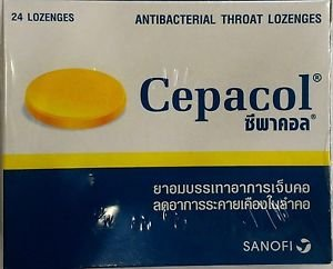 Cepacol antibacterial lozenges sore throat relieve 24 tabs