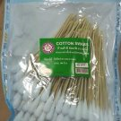 Sterilized cotton swab with wooden handle 100 pieces 6 inch long