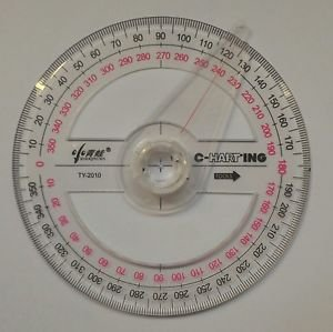 Full circle protractor diameter 10 cm 360 degree with indicator for precision
