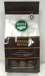Suzuki Coffee Espresso Blend Italian-style Dark roast 100% ground coffee 250 g