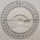 Maped Full circle protractor diameter 12 cm 360 degree protractor