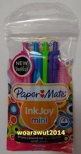 Paper mate inkjoy mini retractable pen 4 bright color ink 0.7 mm