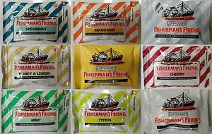 Fisherman's friends lozenges various flavour 2 x 25g for cough or sore throat