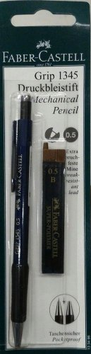Faber-Castell Mechanical pencil GRIP 1345 0.5 mm free Super polymer lead 0.5 mm