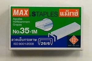 MAX STAPLES No.35-1M 26/6 ( 11.5 x 6 mm) 1000's genuine  for stapler