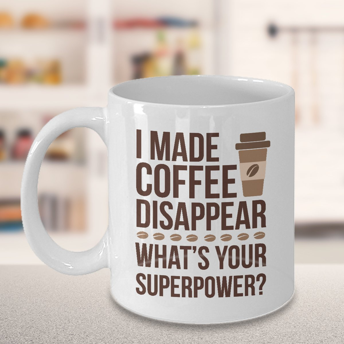 TeesCloset Dishwasher and Microwave Safe Funny Ceramic Mugs For Coffee Addicts