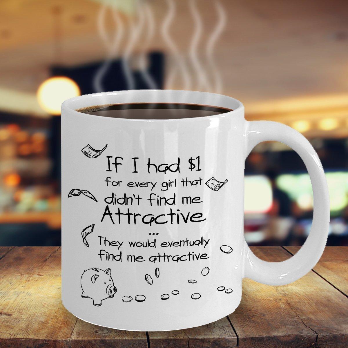 TeesCloset Dishwasher and Microwave Safe Funny Ceramic Mugs For Men