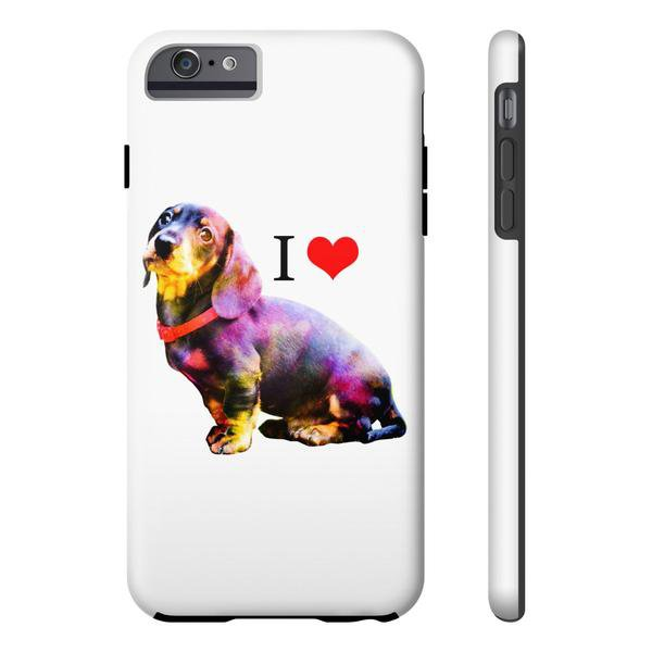 TeesCloset Tough Iphone 6/6s Plus Case for Dachshund Fans