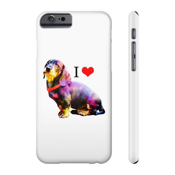 TeesCloset Slim Iphone 6/6s Case for Dachshund Fans