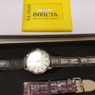 Invicta Men's 'Specialty' Quartz Stainless Steel and Leather Casual Watch, Color
