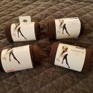 Lot of 4 pairs of Legale tights XS/S Brown new in package