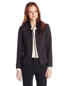 Ellen Tracy Women's Petite wear Fleck Jacket, Black 2/Petite