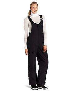 White Sierra Women's Insulated Bib Snow Pant (Black, Medium)