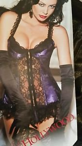 Shirley of Hollywood Women's Satin Tapestry Flowered Jacquard Long Line Bustier
