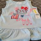 Kidtopia Girls Patriotic Kitty Shirt Size 3T NWT Color Is Blue Bell