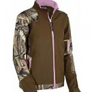 Yukon Gear Women's Windproof Softshell Fleece Jacket, Mossy Oak Break-Up Country