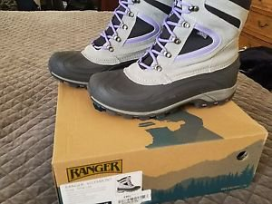 "Ranger Vistamont 8"" Women's Waterproof Suede Thinsulate Winter Boots Gray/ Lilac"