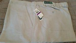 Cubavera Men's Big-Tall Linen Blend Flat Front Drawstring Pant, Natural Linen,2X