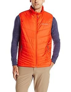 Columbia Sportswear Men's Mighty Light Vest, Spicy, Large