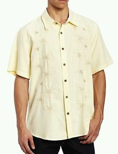 Toes on the Nose Men's Coaster Short Sleeve Woven Shirt, Papaya, Large
