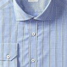 Robert Graham Men's Napoli Regular Cuffs Shirt, Navy, 18