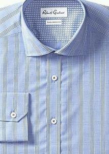 Robert Graham Men's Napoli Regular Cuffs Shirt, Navy, 18