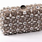 Rodo ladies handbag B7860 601 018 - Clutch One Size Bronze Fabric with Swarovski