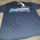 NFL San Diego Chargers Men's Passing Game Short Sleeve Basic Tee, Medium, Navy