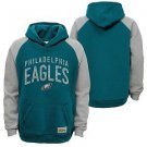 "NFL Philadelphia Eagles Boys ""Foundation"" Hoodie, Jade, Large (14-16)"
