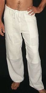Cubavera Men's Big-Tall Linen Blend Flat Front Drawstring Pant, Natural Linen