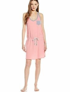 JANE & BLEECKER Women's Pink Brushed Jersey Tie-Waist Chemise - Medium