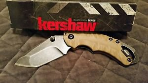 Kershaw 8750TTANBW Shuffle II Folding Knife with Tanto Blade and BlackWash Finis