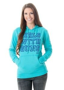 GWG- Girls With Guns Basic Pullover Hoodie, X-Large, Green