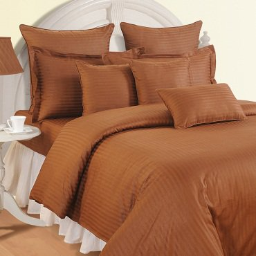 1000 TC EGYPTIAN COTTON  COCO STRIPED DOUBLE BED SHEET SET