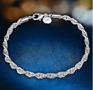 925 Sterling Silver Fashion Jewelry Diamond Cut Bracelet 4 mm,8 in.