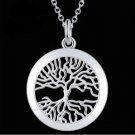 925 Sterling Silver Fashion Jewelry Tree of Life Pendant with Necklace.