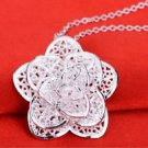 925 Sterling Silver  Fashion Jewelry Pendant, Rose with Necklace 18,20,22 in.