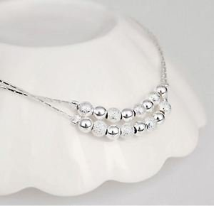 """925 Sterling Silver Foot Fashion Jewelry Anklet """"Balls""""."""