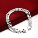925 Sterling Silver Fashion Jewelry Chain bracelet 10 mm .