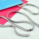 925 Sterling Silver Fashion Jewelry Set Curb Chain 5 mm &  Curb Bracelet 5mm.