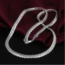925 Sterling Silver Fashion Jewelry Curb Chain Necklace 5mm.