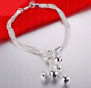 925 Sterling Silver Fashion Jewelry Bracelet with Balls.
