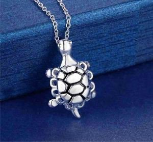 925 Sterling Silver Fashion Jewelry Turtle Pendant & Necklace.