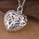 925 Sterling Silver Jewelry Pendant Heart with Necklace.