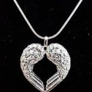 925 Sterling Silver Fashion Jewelry Angel Wings Pendant &Chain 18,20,22 in.