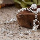 925 Sterling Silver Fashion Jewelry Charm Bracelet with Charm Pendants.