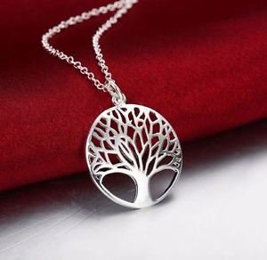 925 Sterling Silver Fashion Jewelry Tree of Life Pendant & Necklace 18,20,22 in