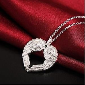 NEW! Beautiful 925 Stamped Silver Fashion Jewelry Angel Wings Pendant