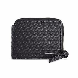 Women's Faux Leather Small Black Credit Card Wallet Mossimo Supply Co