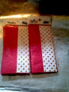 """4 Pack Spritz 16.5 x 24"""" Red & Gold Tissue Paper- 8 Count"""